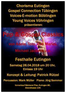 Chorisma Eutingen - Pop & Gospel Classics @ Kongresshalle Böblingen